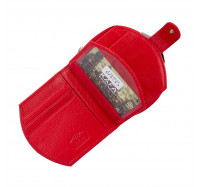 Кошелек женский кожаный Kafa с RFID защитой (AE1869 red )