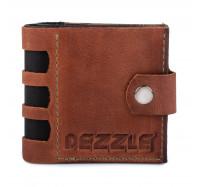 Портмоне кожаное на кнопке Dezzle 2606 светло -коричневое