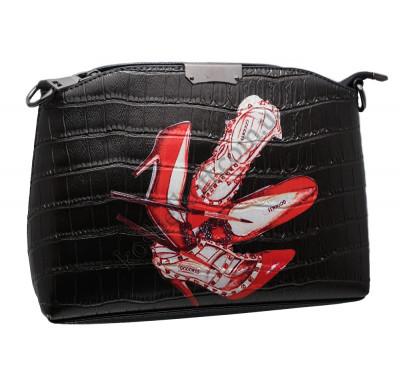 Женская сумка 323 light shoes black