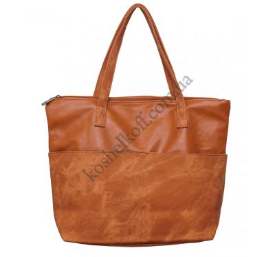 Горизонтальная женская сумка 635 light coffee