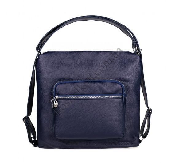 Женская сумка через плечо синяя 5603 B-R-N (Турция)