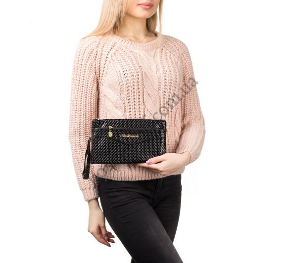 Женская сумочка-клатч через плечо черная 1983