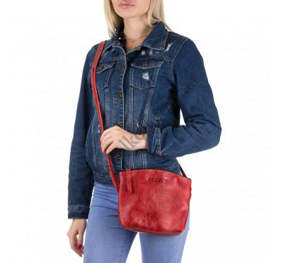 Женская сумка из натуральной кожи Dezzle 2613 красная, ручная работа