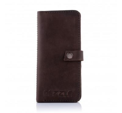 Кожаный кошелек-клатч Dezzle 2601 темно-коричневый
