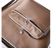 Женская сумка через плечо светло  коричневая 5603 B-R-N (Турция)