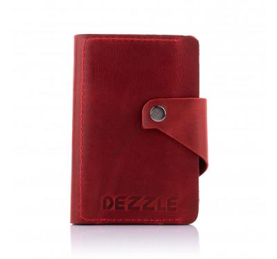 Кошелек кожаный большой вертикальный Dezzle 2607 красный