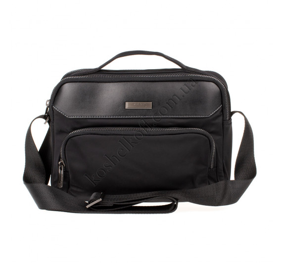 Мужская сумка через плечо из водоотталкивающей ткани Nobol черный 5125
