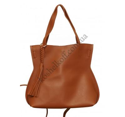 Стильная женская сумка 8090 brown