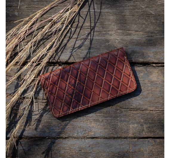 Кошелек из натуральной кожи Dezzle с тиснением  2602 Brown