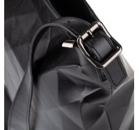 """Женская сумка планшет через плечо Goodyfun GF-8386 """"Квадрат"""" черная"""