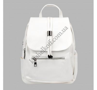 Женский городской рюкзак из искусственной кожи Spike белый 7023