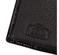 Кошелек женский кожаный Kafa с RFID защитой (AE214 black)