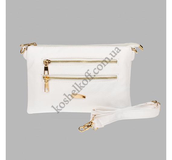 Стильная женская сумочка через плечо Bagira 848 White