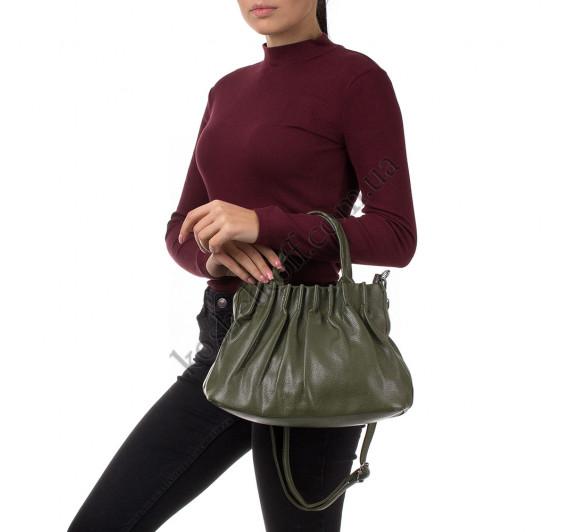 Женская сумка через плечо Goodyfun GF-8598 зеленая