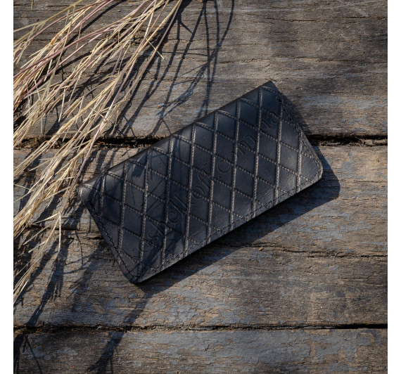 Кошелек из натуральной кожи Dezzle с тиснением  2602 Black