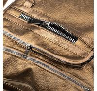 Женская сумка-рюкзак через плечо B-R-N бронзовая (Турция)