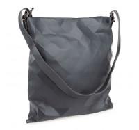 """Женская сумка планшет через плечо Goodyfun GF-8386 """"Квадрат"""" серая"""