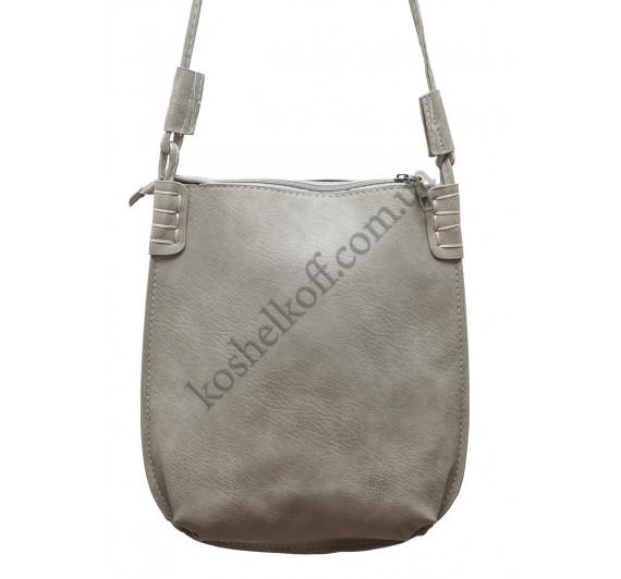 Стильная женская сумка P087 (серая)