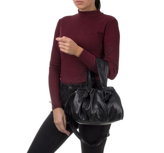 Сумка женская с кулиской Goodyfun GF-8530 черная