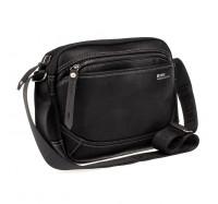 Мужская сумка через плечо Leastat черный 9706