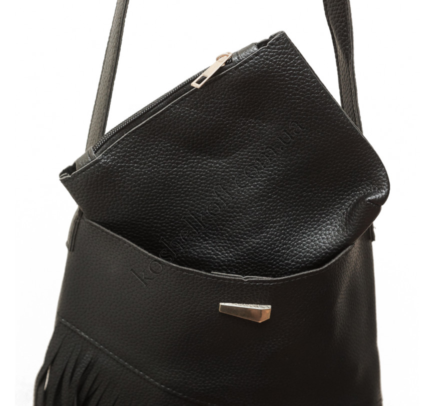 55527117cab2 Модная женская сумка через плечо X005 (черная) купить в интернет ...