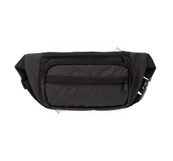 Сумка на пояс (бананка) crossbody P68 Black