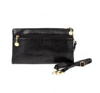 Женская сумочка-клатч через плечо черная 2025