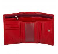 Кошелек женский кожаный Kafa с RFID защитой (AE214 red mat )