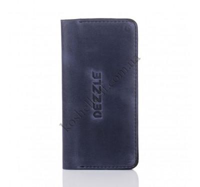 Кошелек из натуральной кожи Dezzle синий,  ( 2602 blue)