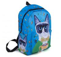 Молодежный оригинальный рюкзак Cool Cat (синий)