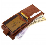 Мужской кошелек портмоне кожаный Desisan 080 015 коричневый