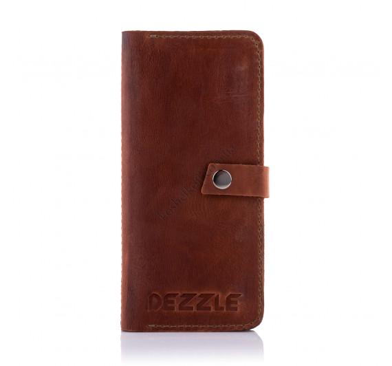 Кожаный кошелек-клатч Dezzle 2601 коричневый