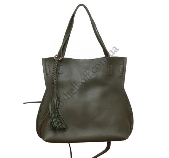 Стильная женская сумка 8090 green