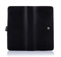 Кожаный кошелек-клатч Dezzle 2601 черный