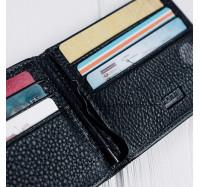 Кожаное портмоне с зажимом на магнитах Kafa 555-7