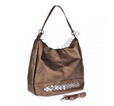 Женская сумка через плечо бронзовая 5605 B-R-N (Турция)