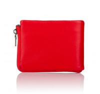 Кожаное портмоне с зажимом для денег на молнии Kafa 639-Red