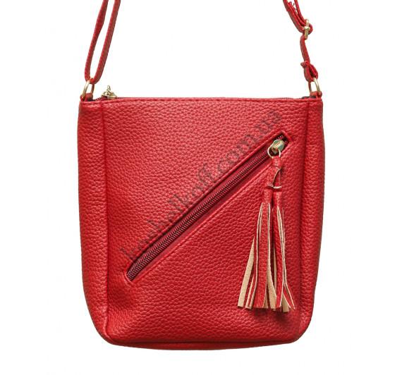 Женская  маленькая сумочка через плечо GH155 (красная)