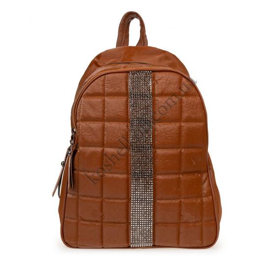Рюкзак женский из искусственной кожи B-R-N коричневый