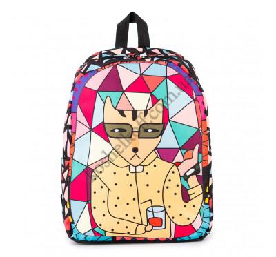 Молодежный оригинальный рюкзак Cool Cat  (в желтой рубашке)