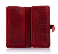 Кожаный кошелек-клатч Dezzle 2601 красный