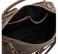 Женская сумка саквояж через плечо Goodyfun GF-8600 бежевая