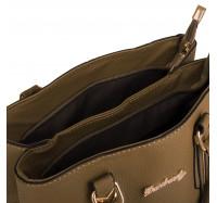 Стильная  женская сумочка Miss Feng 3267-1 коричневая