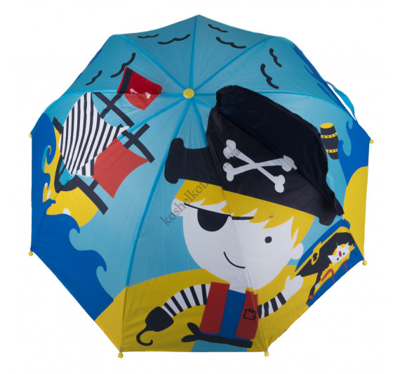 Детский зонт  3D D-55  Остров сокровищ