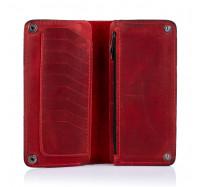 Портмоне кожаное на кнопках  Dezzle 2602 красное