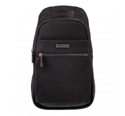Мужская сумка-рюкзак через плечо из водоотталкивающей ткани 2292 Nobol черный
