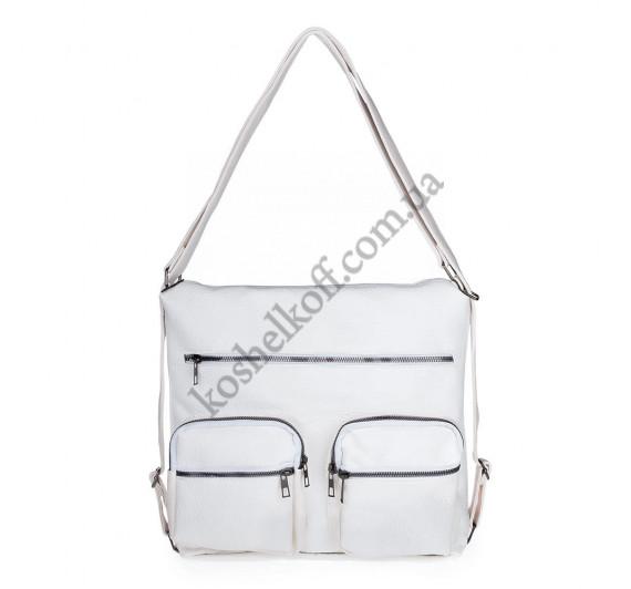 Женская сумка через плечо белая B-R-N 5604 (Турция)