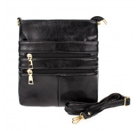 Женская сумка-планшет через плечо 0016 черная