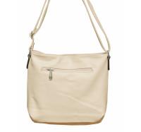 Женская сумочка через плечо 002 (кремовая)