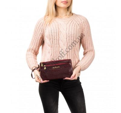 Женская сумочка-клатч через плечо красная  1983
